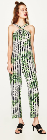 ZARA Leaves print jumpsuit  £29.99