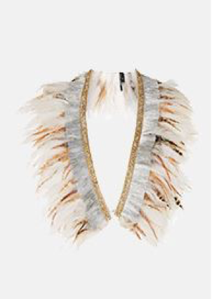 Topshop Feather Mix Collar   £50.00