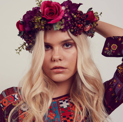 ROCK'N'ROSE Agnes Oversized Floral Berry Crown Headband  £60