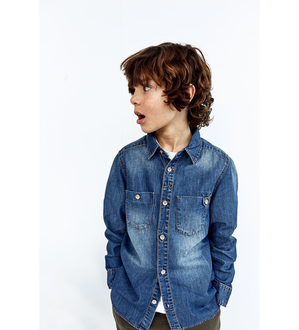 Denim Shirt, £13 at Zara
