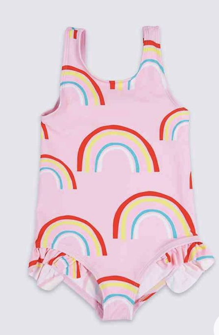 Rainbow swimsuit £7 - £9