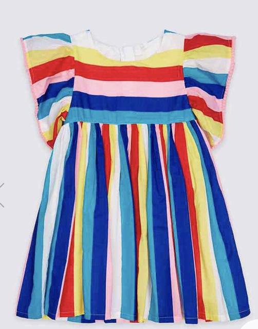 Striped Pure Cotton Dress £12 - £16