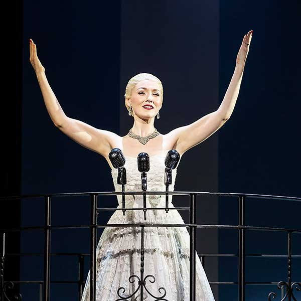 Evita stars The Voice finalist and musical theatre songstress Lucy O' Byrne and features some of the most iconic songs in musical theatre, including  Don't Cry For Me Argentina ,  On This Night of a Thousand Stars  and  Another Suitcase in Another Hall.   The show continues at the Grand Opera House until 11 August and tickets are available at:  https://tickets.goh.co.uk/WEBPAGES/EntaWebShow/ShowPerformance.aspx