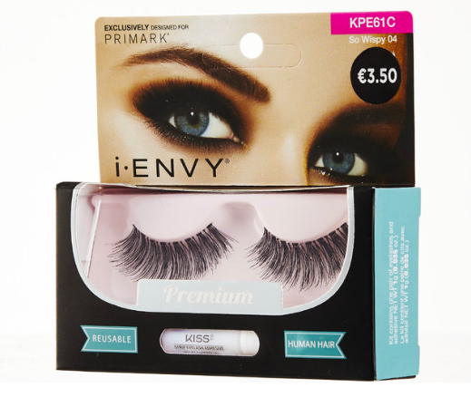 I-ENVY BY KISS SO WISPY (€3.50)  Blur the lines between real and false. The So Wispy collection is made with 100% premium human Remy hair and blends perfectly with your own lashes.
