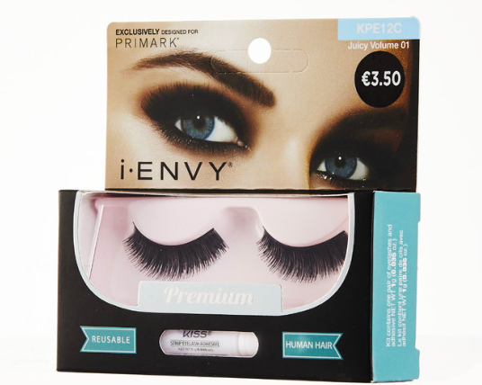 I-ENVY BY KISS JUICY VOLUMEN (€3.50)  These maximum density lashes are designed for you to put your edgiest eye forward (no endless coats of volumizing mascara necessary).    i-Envy by Kiss lashes are exclusive to Penny's and Primark across Ireland. #BringtheSalonHome