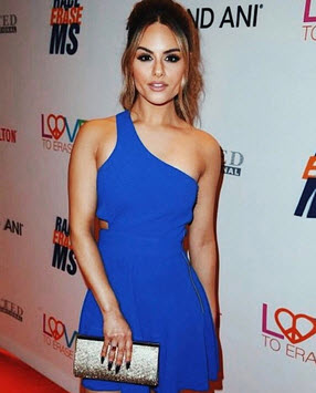 Pia Toscano - Asymmetric Fit and Flare in Vegas Blue
