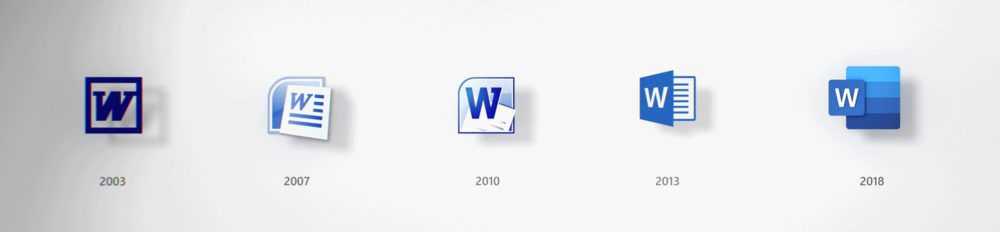 Logo-Entwicklung des Word-Icons
