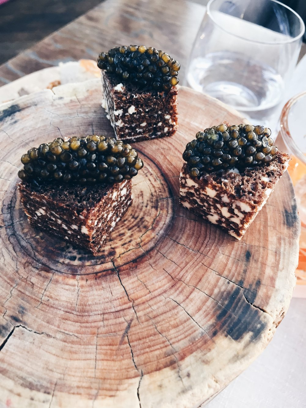 Mini sandwiches with black caviar - Mini starters