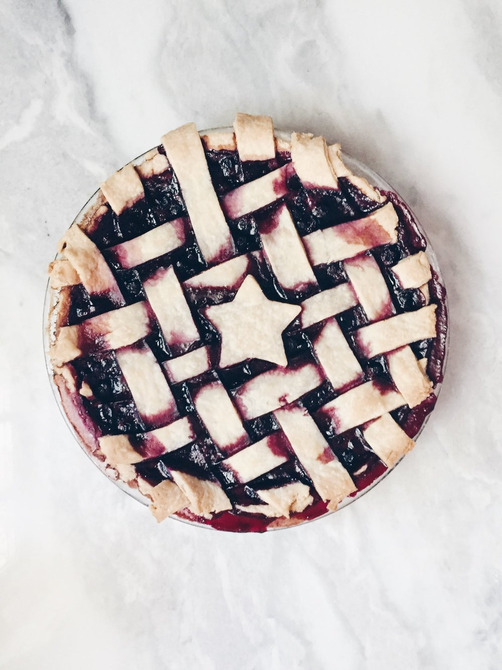 Maine Blueberry Pie -