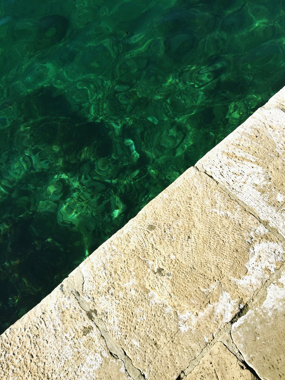 beautiful emerald-hued water