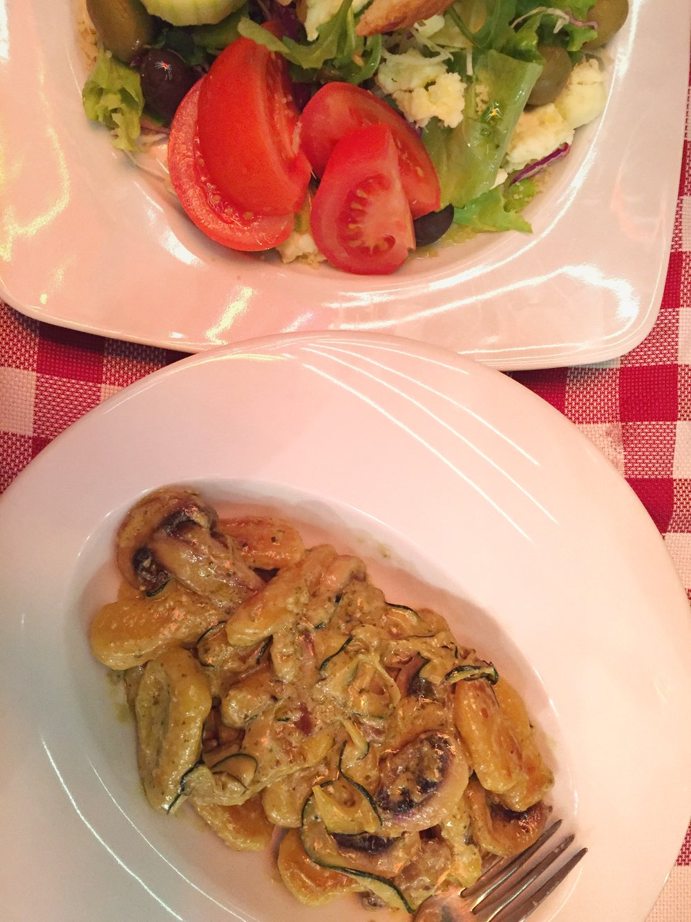 sweet potato & mushroom gnocchi (Split)