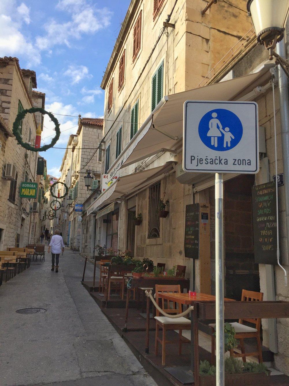 one of Split's many car-free zones