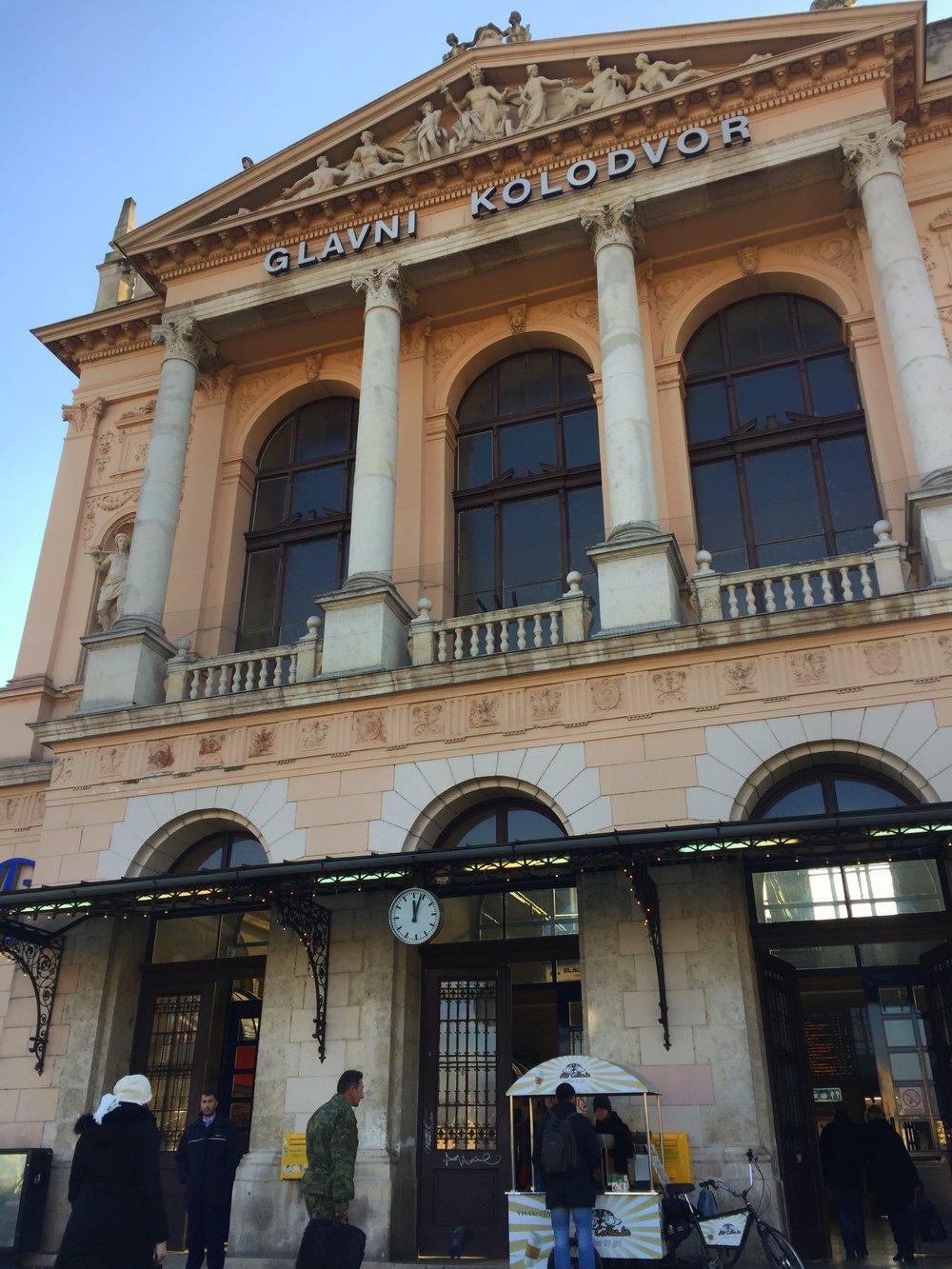 Zagreb train station