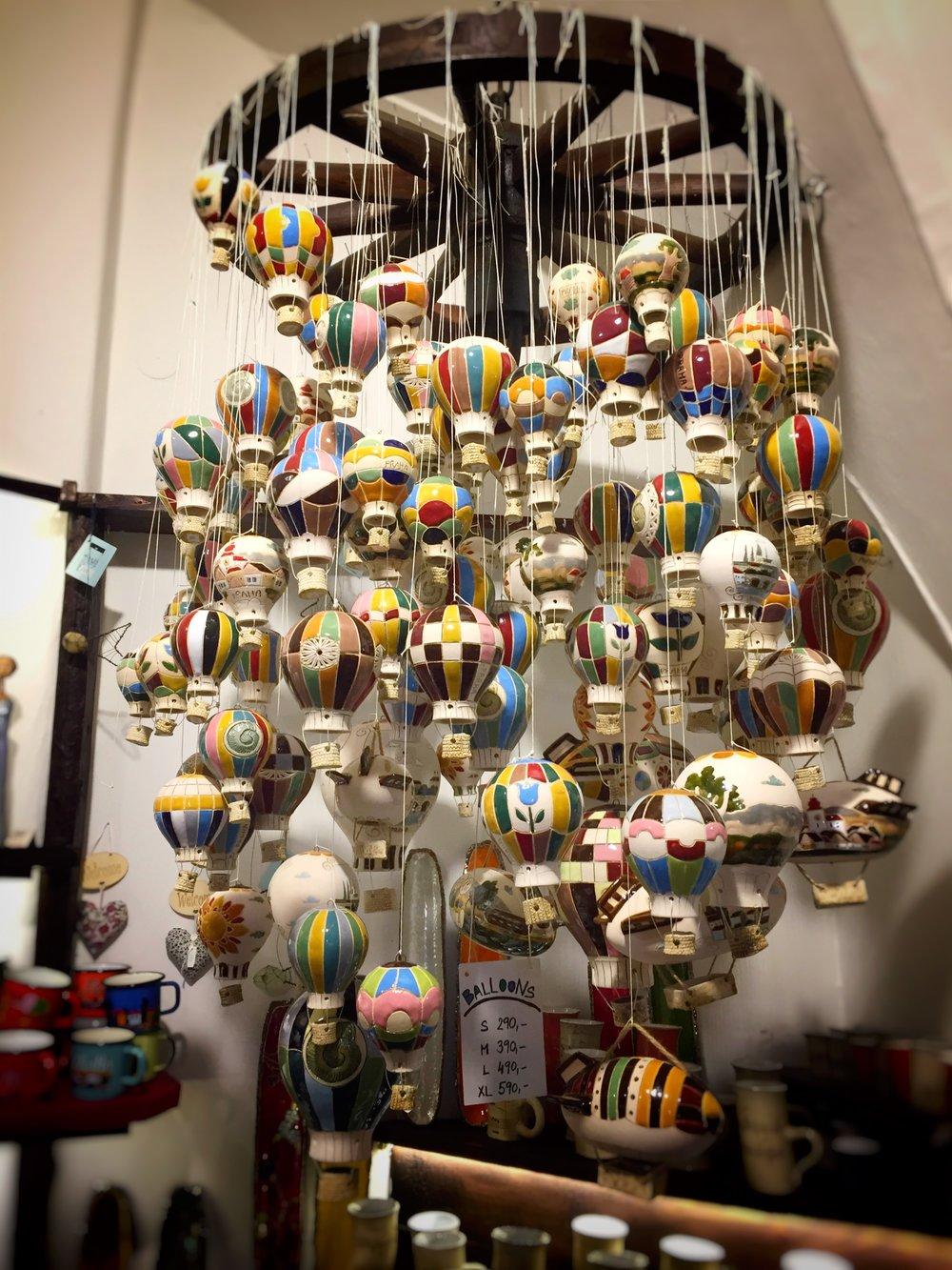 fun ceramic hot air balloons