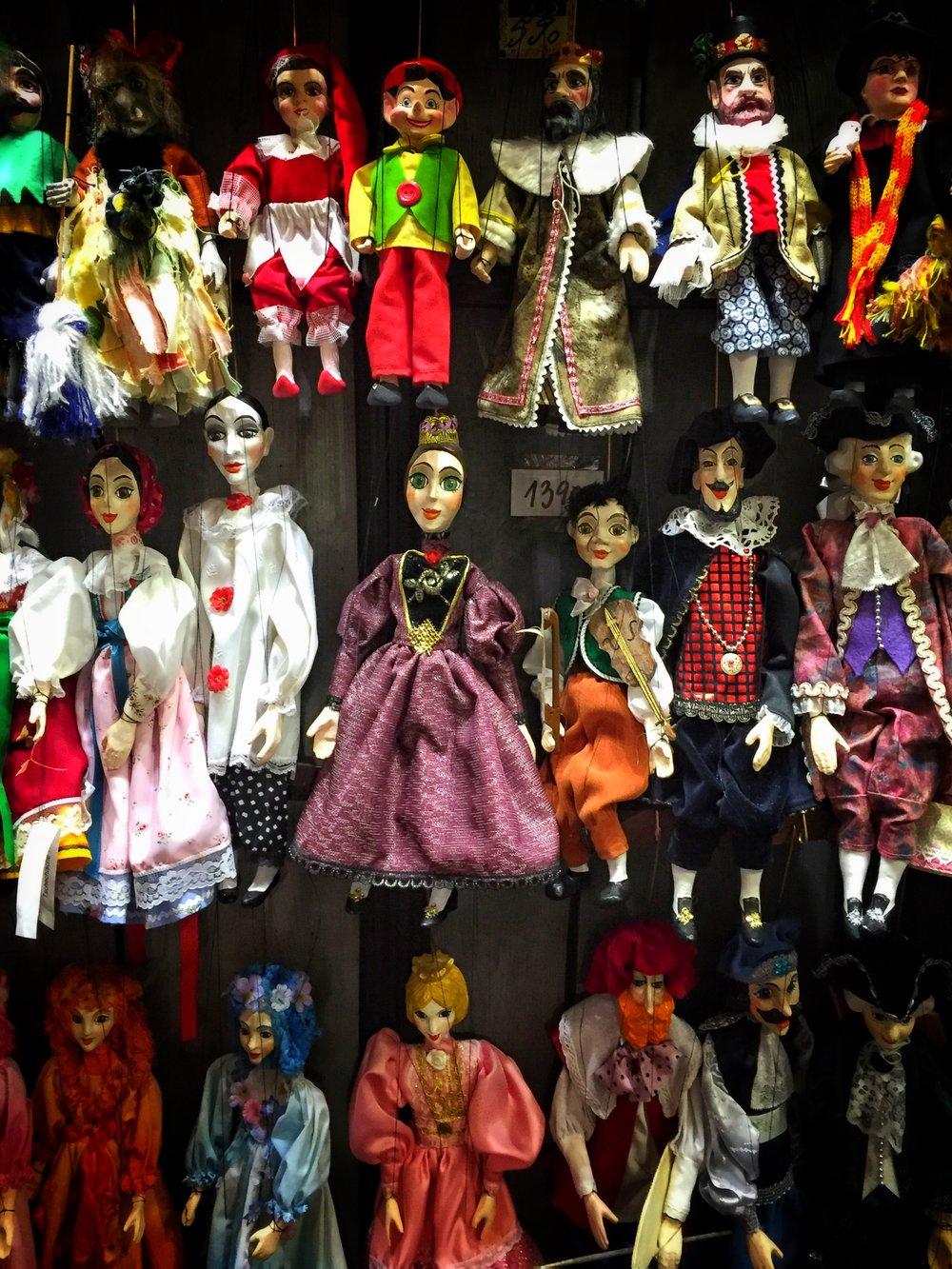 marionette shop Loutky Michael