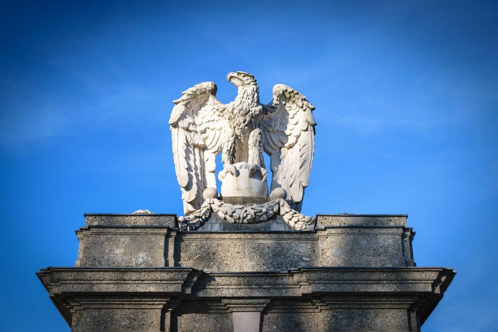 Nazi-era eagle statue