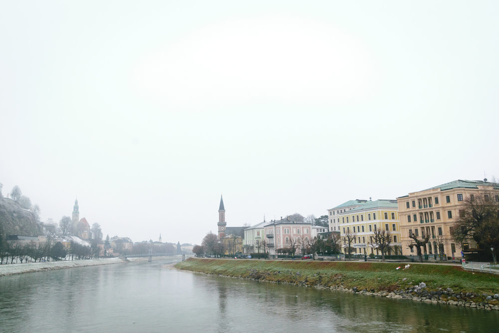 view of Old Town on the Salzach River