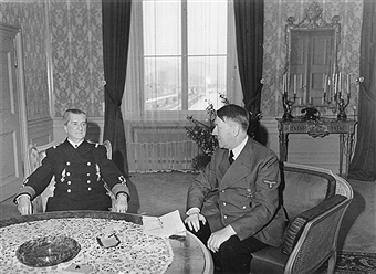 1943, Hitler in a meeting at Klessheim Palace (photo credit: Getty Images)