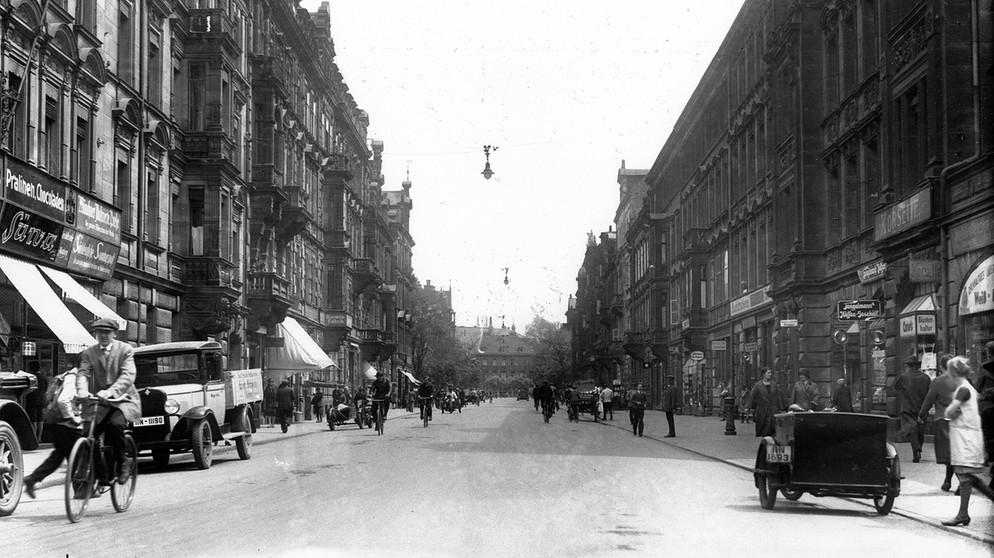 Fürther Straße in 1929 (photo credit: Bayerischer Rundfunk)