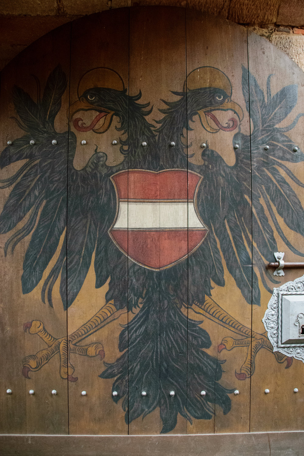 family symbol on entry door