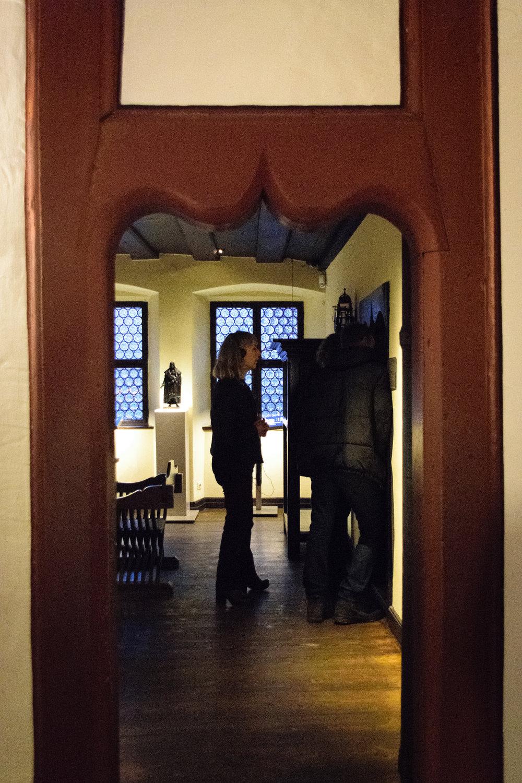 whimsical carved door frame