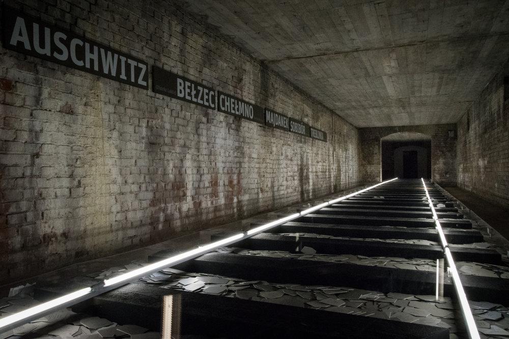 an art installation on Nazi victims