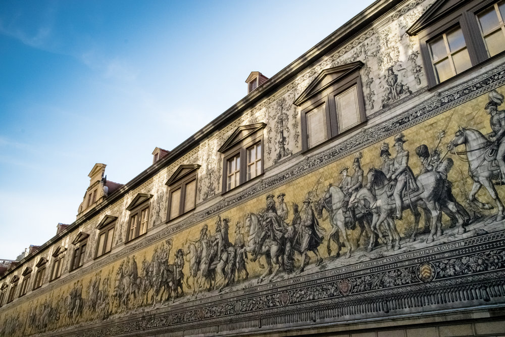 Fürstenzug, or Procession of Princes, wall mural