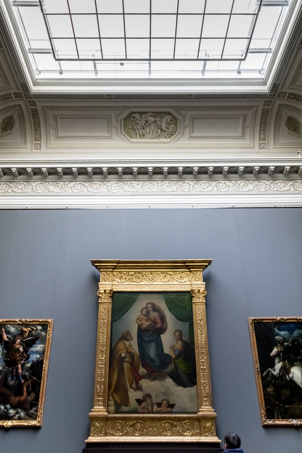 Sistine Madonna by Raffael at the Semper Gallery