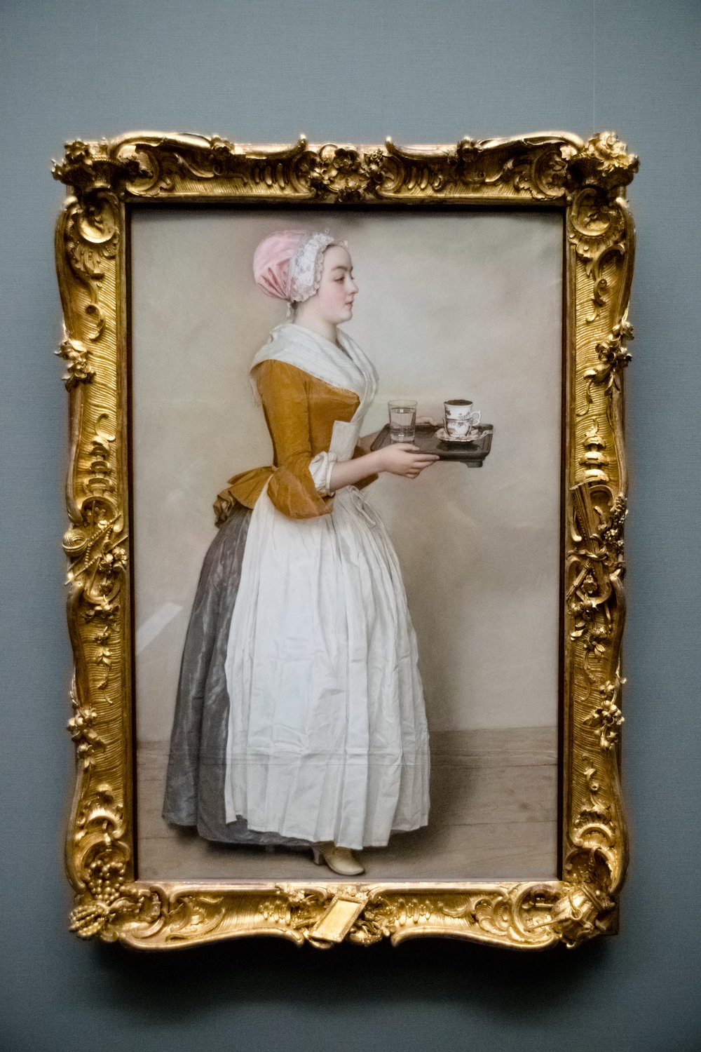 The Chocolate Girl by Swiss artist Jean-Étienne Liotard