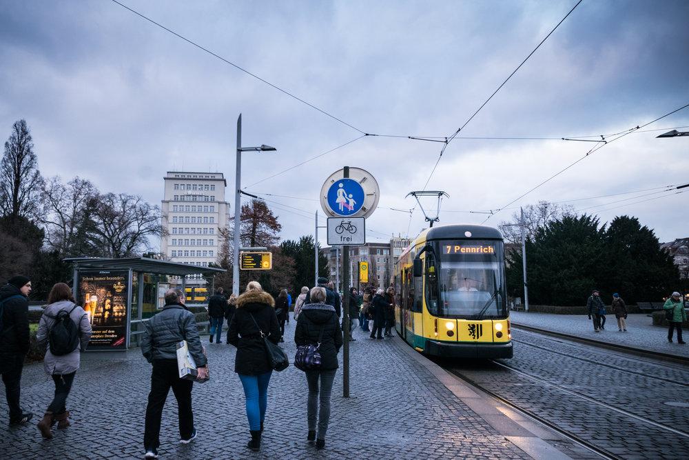the Dresden tram