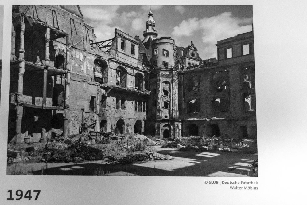 the castle was destroyed in 1947