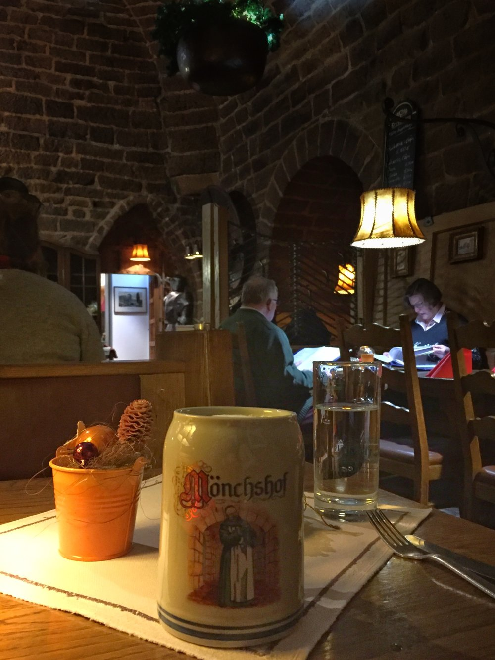 a stein of beer at Rassauer Keller (Nuremberg)