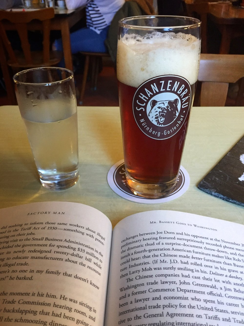 a local beer & book with lunch (Nuremberg)