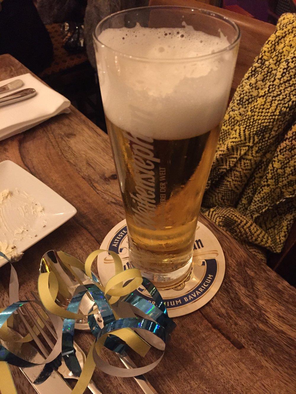 New Year's Weihenstephan at Brasserie Lumieres (Berlin)
