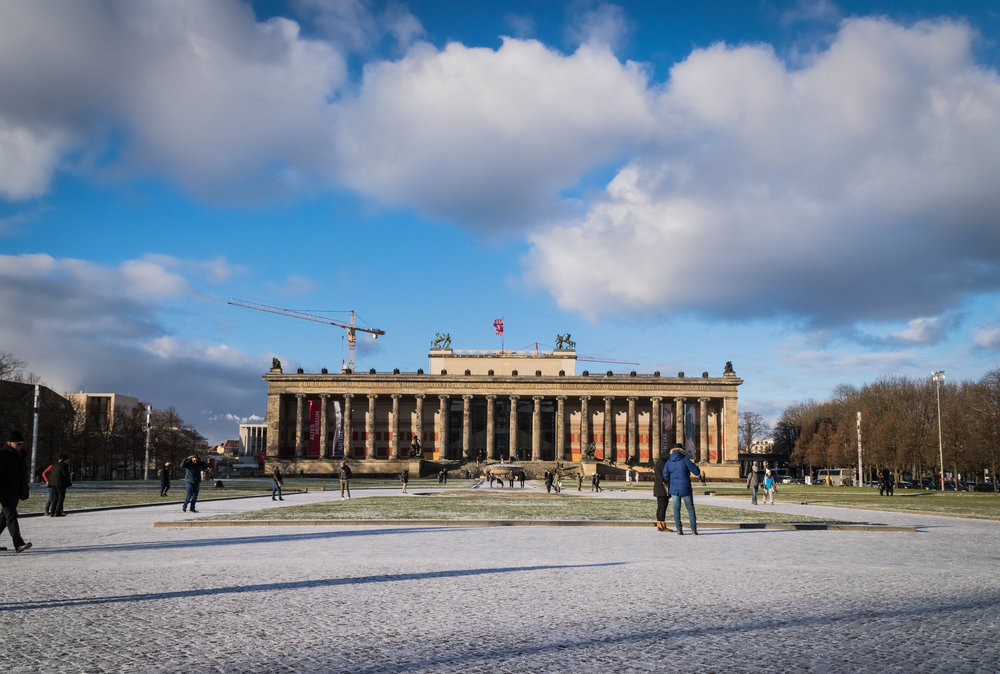 Altes Museum with displays of Roman & Greek artifacts