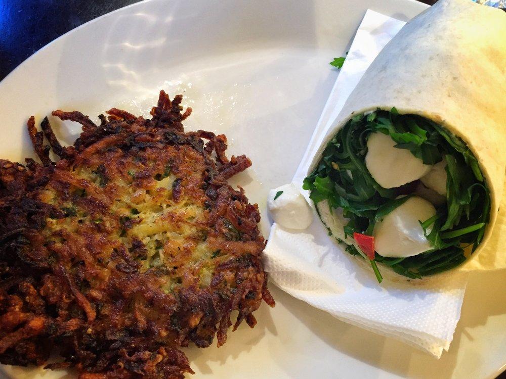 potato hash & spinach/mozzarella wrap (Berlin)