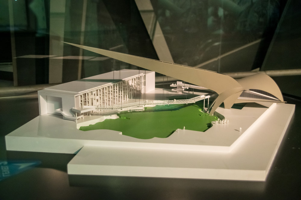model of the French pavilion
