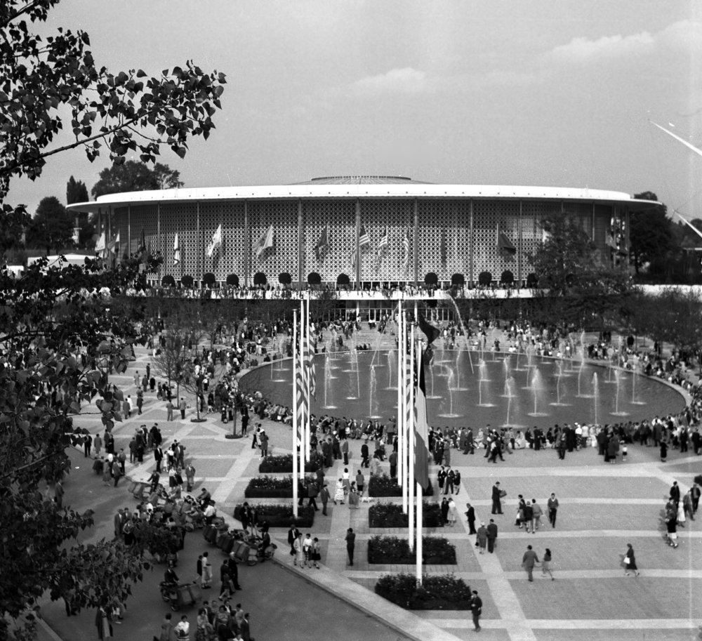 USA pavilion 1958 (photo credit: Wikipedia)