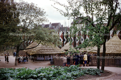 Belgium's Congolese village at the 1958 world fair (photo credit: photovalet.com)