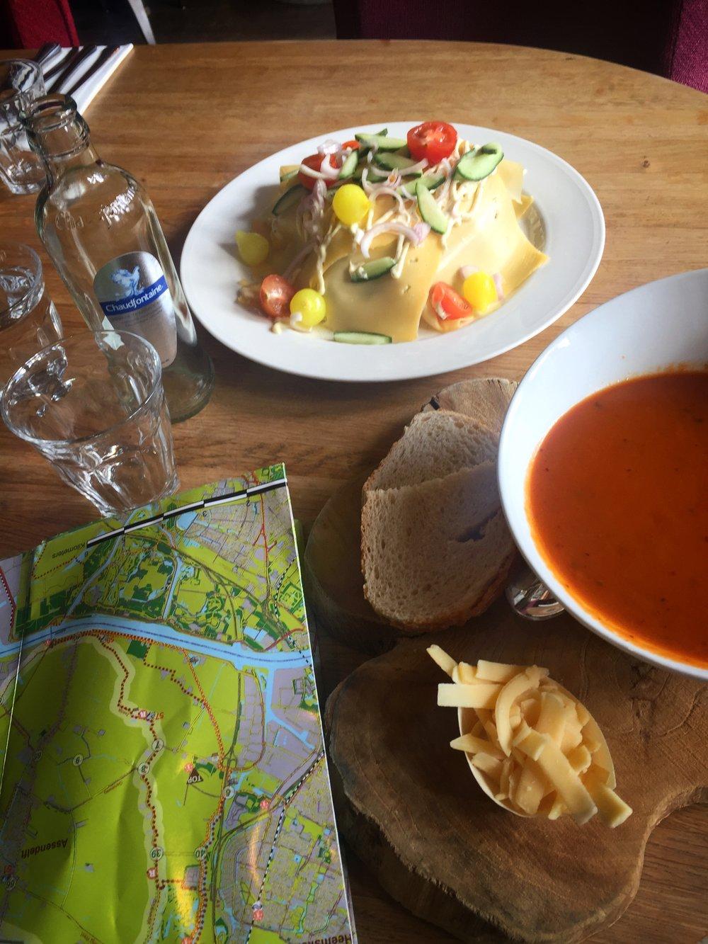 cheese sandwich & tomato soup at Restaurant Bij Ernst (De Rijp)