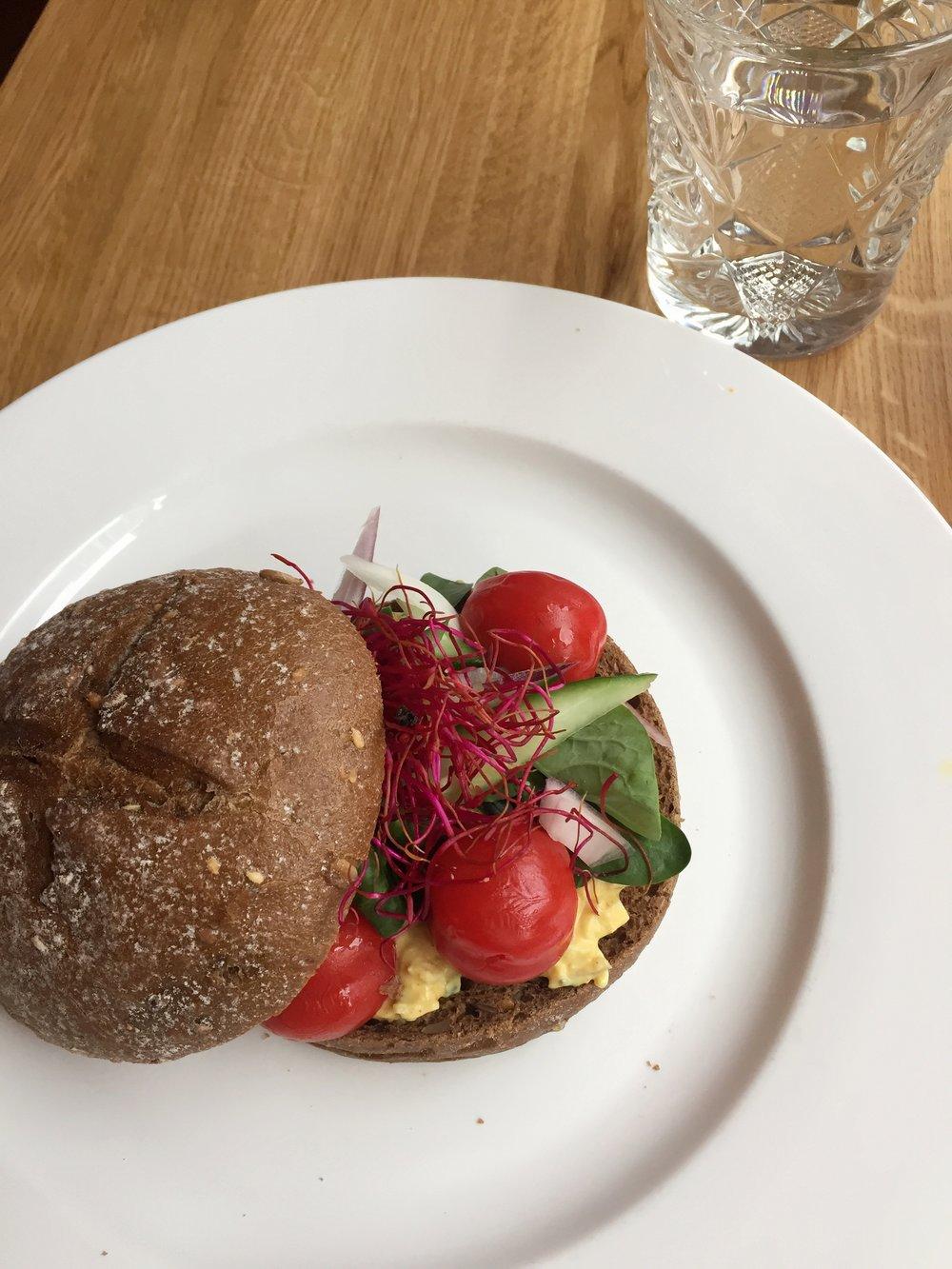 quick egg salad sandwich at Lunchroom De Salon (The Hague)