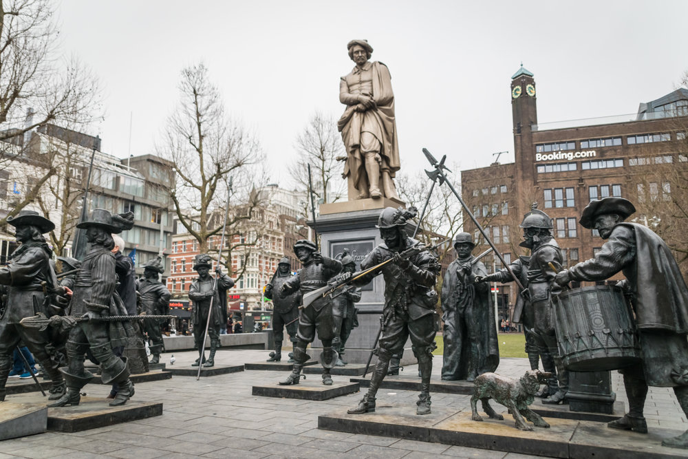 the sculptural interpretation of Rembrandt's 'The Night Watch'