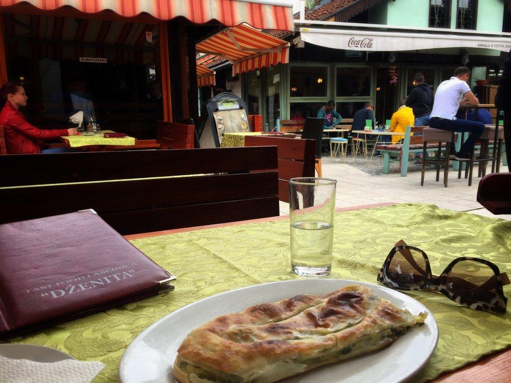 spinach & cheese pita sirnica at Dženita (Sarajevo)