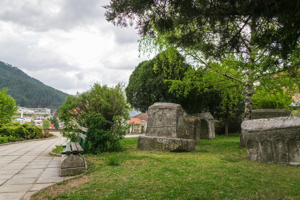 Stećak medieval tombstones