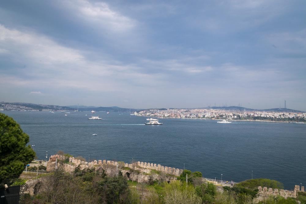 overlooking Byzantine ruins
