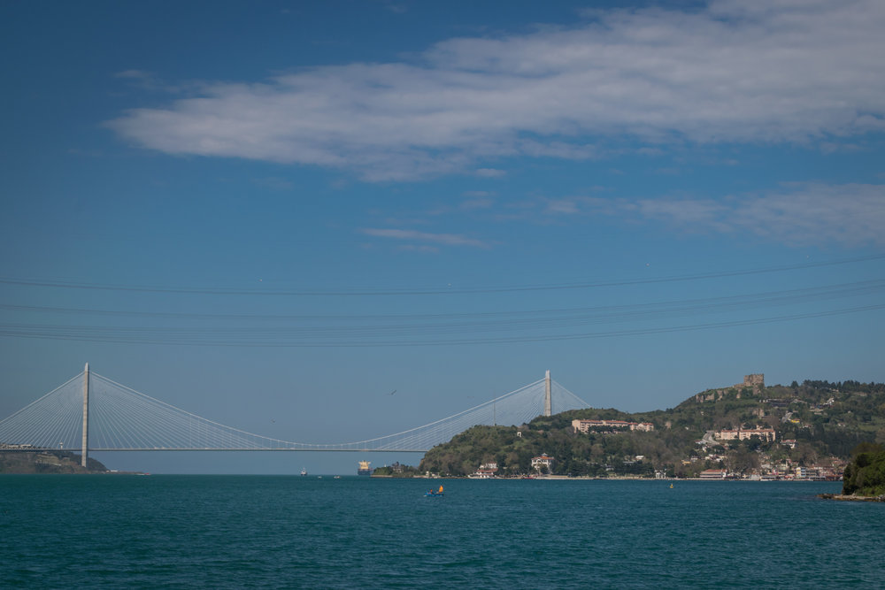 the Black Sea, beyond the bridge