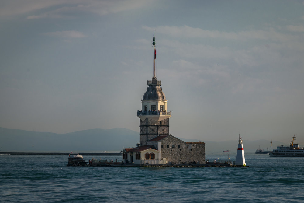 Maiden's Tower (Kızkulesi) from the Byzantine era almost a thousand years ago