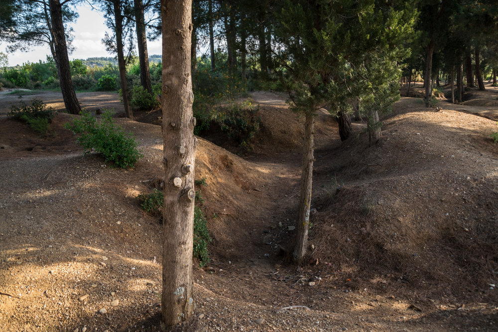 the trenches where Ottoman soldiers hid