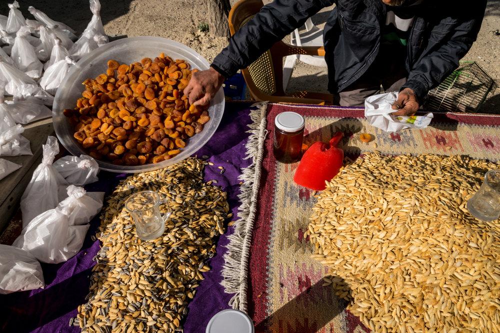 apricots & pumpkin seeds in Cappadocia