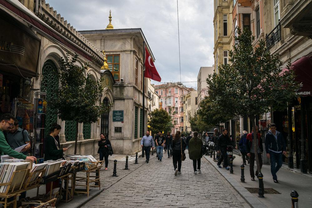 historic Beyoğlu (Pera) district, Istanbul